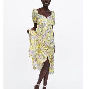 Zara Ruffled Print Dress - brand new!!